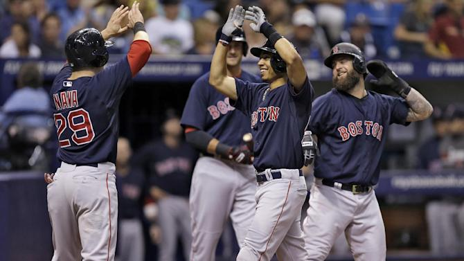 Betts hits grand slam, Red Sox beat Rays 8-4