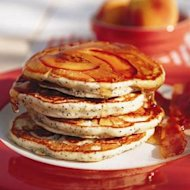 Pancake recipes: Peach and poppyseed sour cream pancakes