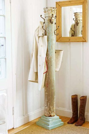A handsome salvage design coat rack
