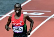 El keniata Ezekiel Kemboi se proclam el domingo 5 de agosto de 2012 campen de los 3.000 m obstculos en los Juegos Olmpicos de Londres-2012 con un tiempo de 8 minutos 18 segundos y 56 centsimas. (AFP | gabriel bouys)