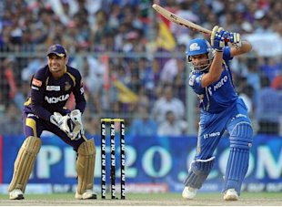 Mumbai Indians batsman Rohit Sharma is w