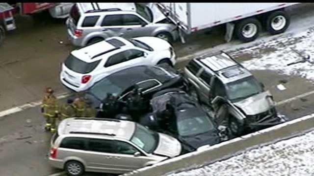 Massive pileup on Detroit freeway kills at least two