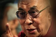 The Dalai Lama, pictured in April 2012, will receive the 2012 Templeton Prize, one of the world&#39;s biggest monetary awards, in a ceremony at Saint Paul&#39;s Cathedral in London on May 14, organisers said Wednesday