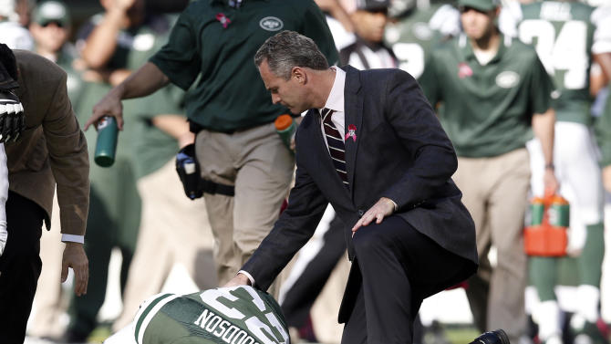 Jets' Goodson out for year with torn ACL, MCL