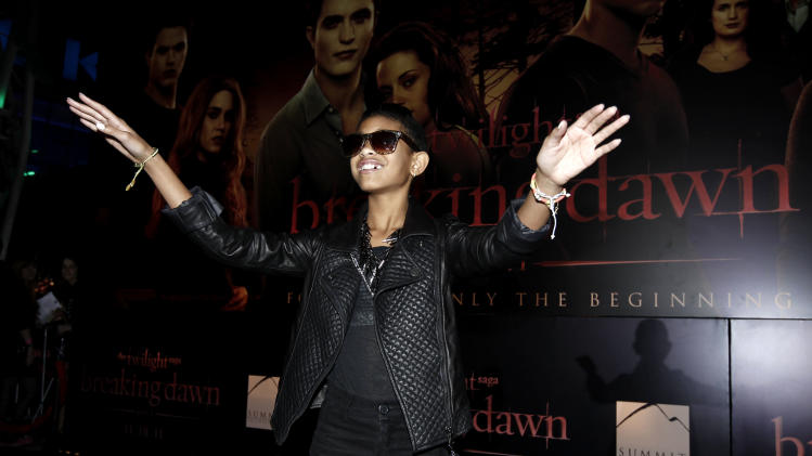 "Willow Smith arrives at the world premiere of ""The Twilight Saga: Breaking Dawn - Part 1"" on Monday, Nov. 14, 2011, in Los Angeles. (AP Photo/Matt Sayles)"