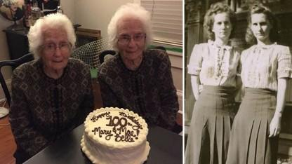 Identical Twins Remain Inseparable and Going Strong at Age 100