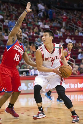 Harden scores 33 as Rockets beat 76ers 125-103