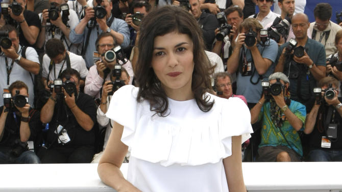 Actress Audrey Tautou poses during a photo call for Therese Desqueyroux at the 65th international film festival, in Cannes, southern France, Sunday, May 27, 2012. (AP Photo/Lionel Cironneau)
