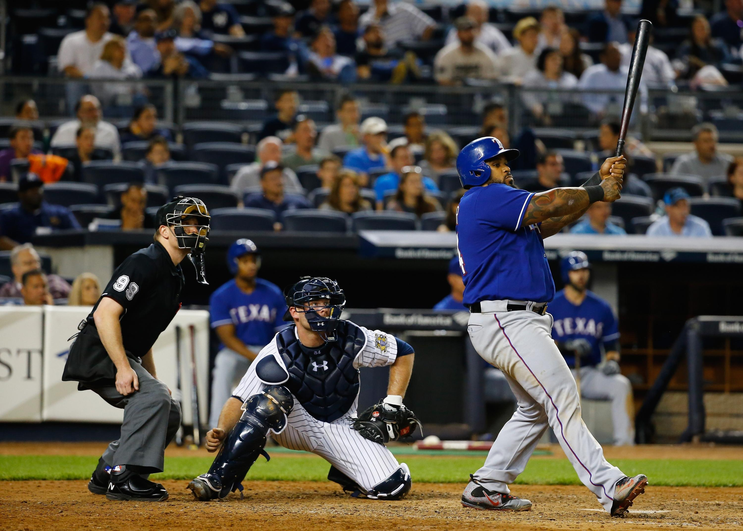 Prince Fielder leads Rangers to sweep over the Yankees
