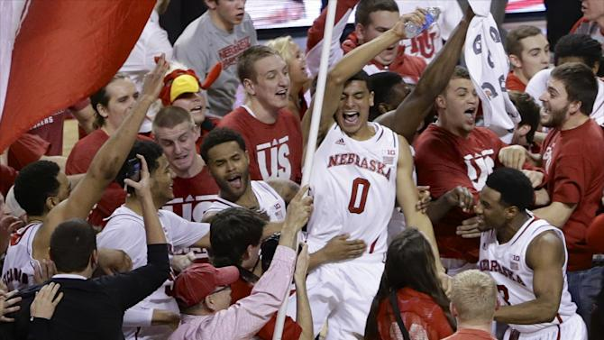 NCAA hopeful Nebraska beats No. 9 Wisconsin 77-68