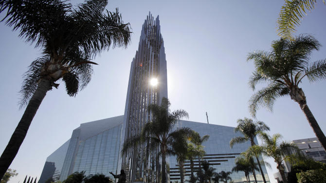 "This Oct. 27, 2011 photo shows the Crystal Cathedral in Garden Grove, Calif.  As the ministry famous for its ""Hour of Power"" television program muddles through bankruptcy, churchgoers face the possibility of seeing the property sold to the Roman Catholic Diocese of Orange and being forced to move to a new location.  (AP Photo/Jae C. Hong)"