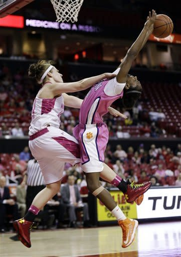 No. 7 Maryland women beat Clemson 75-45