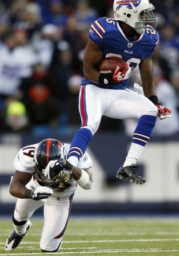 Bills pick off Tebow 4 times, beat Broncos 40-14