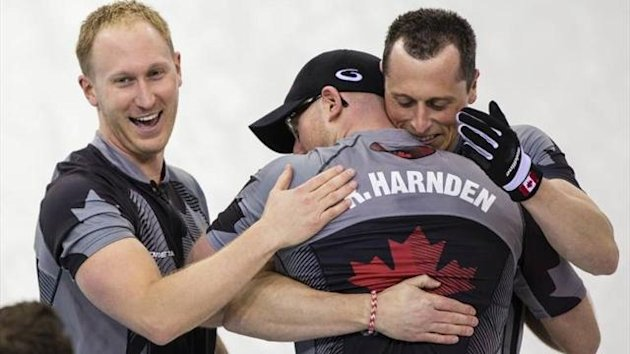 Canada's winning team in the curling