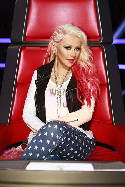 Christina in the judges chair, November 5, 2012