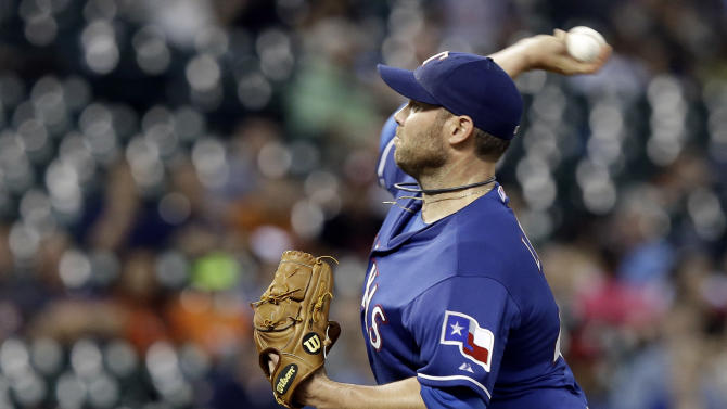 Peguero hits 2 homers, Rangers rout Astros 11-3 behind Lewis