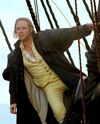 Russell Crowe as Captain Jack Aubrey in 20th Century Fox's Master and Commander: The Far Side of The World