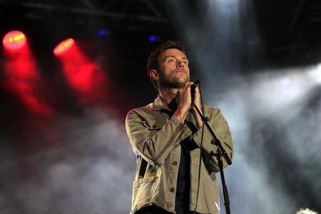 Damon Albarn of British band Blur performs during the Primavera 0 show in Montevideo