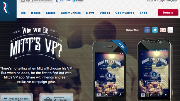 Can Romney's VP Announcement App Really Beat Twitter?