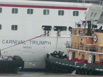 Carnival Triumph Docks After Another Mishap