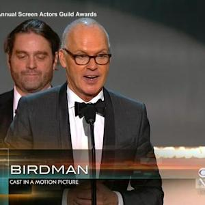 """Birdman"" cast takes top honor at 2015 SAG Awards"