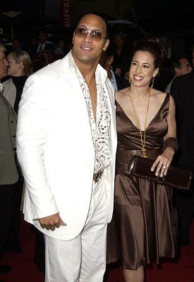 The Rock with his wife Dany at the LA premiere of Universal's The Scorpion King
