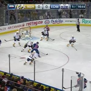 Pekka Rinne Save on Jordan Eberle (03:17/1st)