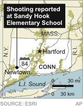 CONN SHOOTING: Map locates Newtown, Conn.