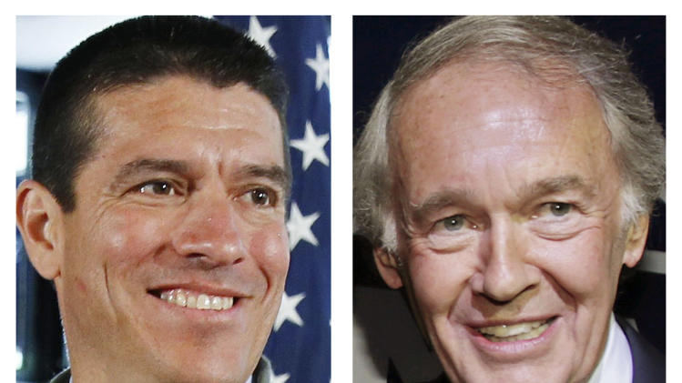 This panel of May 2013 file photos shows Republican Gabriel Gomez, left, and Democrat U.S. Rep. Ed Markey, right, candidates for U.S. Senate in the June 25, 2013 special election, being held to fill the seat vacated when John Kerry was appointed as secretary of state. (AP Photos/File)