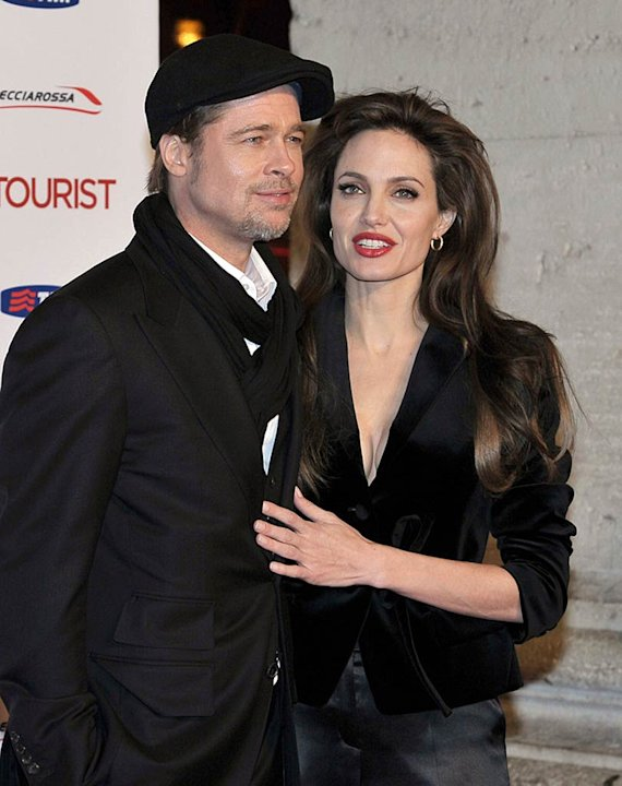Brad Jolie The Tourist Rome