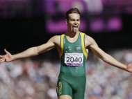 Canberra sprinter Evan O'Hanlon has won a second gold medal at the London Paralympics