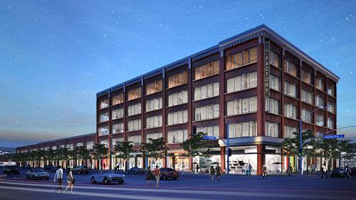 Rendering Reveal: First Look at the Mixed-Use Makeover For the Arts District's 1913 Ford Factory