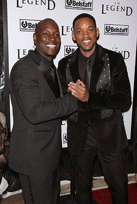 Tyrese Gibson and Will Smith at the New York City premiere of Warner Bros. Pictures' I Am Legend