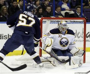 Backes has 2 goals, 2 assists in Blues' win