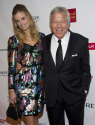 Robert Kraft, right, and Ricki Noel Lander attend Elton John's AIDS Foundation's 11th annual Enduring Vision benefit on Monday, Oct. 15, 2012 in New York. (Photo by Charles Sykes/Invision/AP)