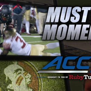 Jameis Winston Throws Interception and Forces Fumble on Same Play | ACC Must See Moment
