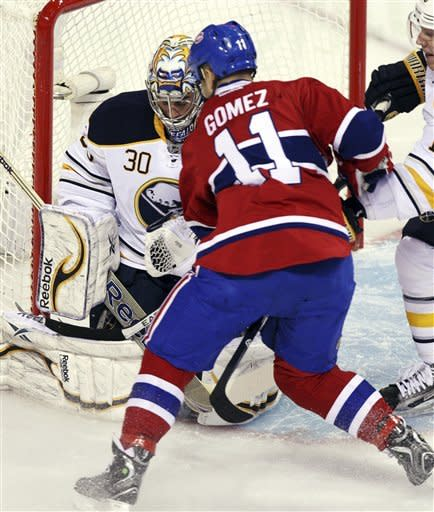 Gaustad sends Sabres to 3-1 win over Canadiens