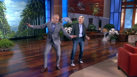 Matt Lauer Dances on 'Ellen'!