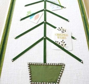 Ribbon Tree Card Holder