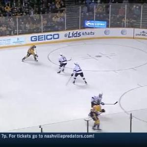 Martin Jones Save on Shea Weber (09:23/1st)