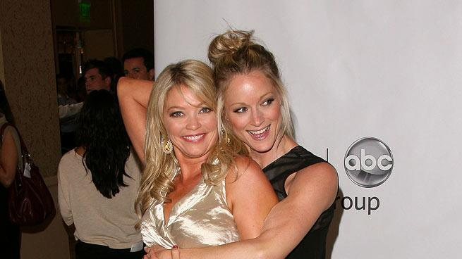 "Amanda Detmer and Teri Polo of ""Man Up"" attend the Disney ABC Televison Group's 'TCA 2001 Summer Press Tour' at the Beverly Hilton Hotel on August 7, 2011 in Beverly Hills, California."