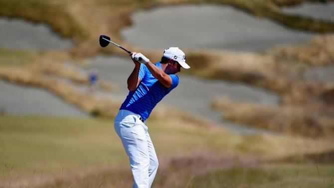 Cameron Smith hits his tee shot during 115th U.S. Open Championship at Chambers Bay, Washington on June 21, 2015, who together with Branden Grace and Shane Lowry accepted special temporary US PGA Tour membership for the remainder of the season