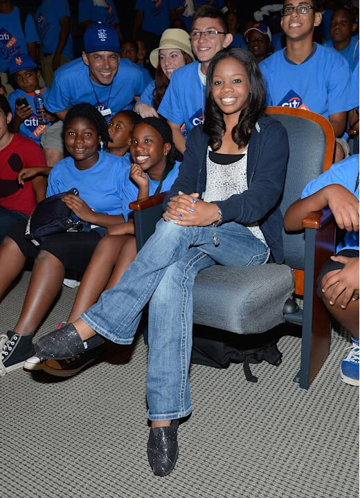 Citi Field Kids Program Hosts Gabby Douglas