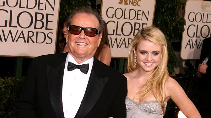 Jack Nicholson and Lorraine Nicholson at the 64th annual Golden Globe Awards.