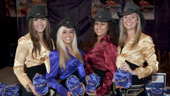 Image made during the Crown Royal CAMO Care Package event, Saturday, Feb. 9, 2013, at the San Antonio Stock Show and Rodeo in San Antonio. (Darren Abate/AP Images for Crown Royal)