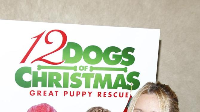 """IMAGE DISTRIBUTED FOR SONY PICTURES HOME ENTERTAINMENT - Actress Alli Simpson is seen at the """"12 Dogs of Christmas: Great Puppy Rescue"""" sneak preview on Thursday, Oct. 4, 2012, in Los Angeles.  (Photo by Joe Kohen/Invision for Sony Pictures Home Entertainment/AP Images)"""