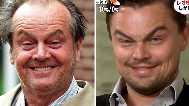 Leonardo DiCaprio and Jack Nicholson