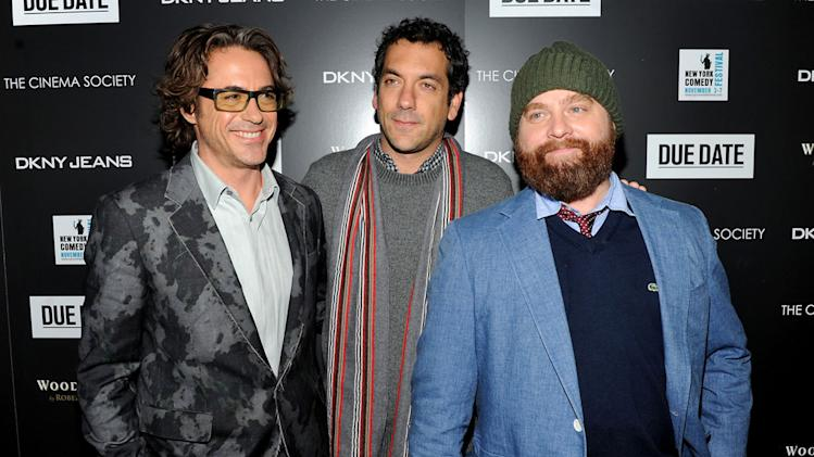 Due Date NYC Screening 2010 Robert Downey Jr. Todd Phillips Zach Galifianakis