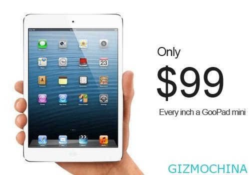 The iPad Mini 'clone' will cost just £61 (Image: Goophone)