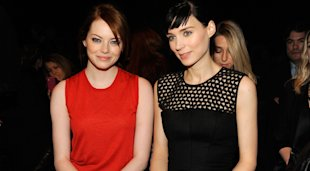 Emma Stone and Rooney Mara on the Calvin Klein Front Row!
